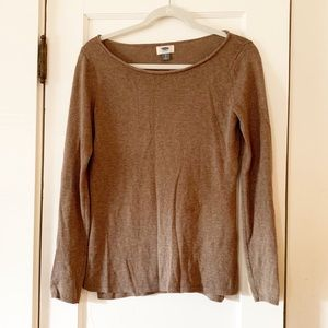 Old Navy roll neck brown sweater